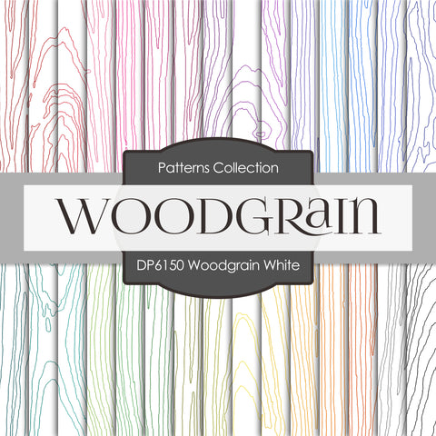 Woodgrain White Digital Paper DP6150A