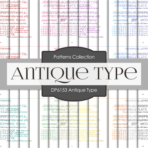 Antique Type Digital Paper DP6153A