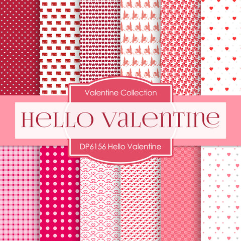 Hello Valentine Digital Paper DP6156C