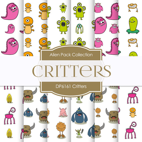 Critters Digital Paper DP6161B