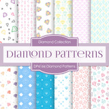 Diamond Patterns Digital Paper DP6166C