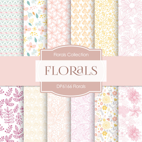 Florals Digital Paper DP6166D