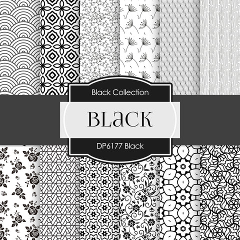 Black Digital Paper DP6177B