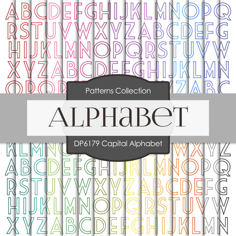 Capital Alphabet Digital Paper DP6179A