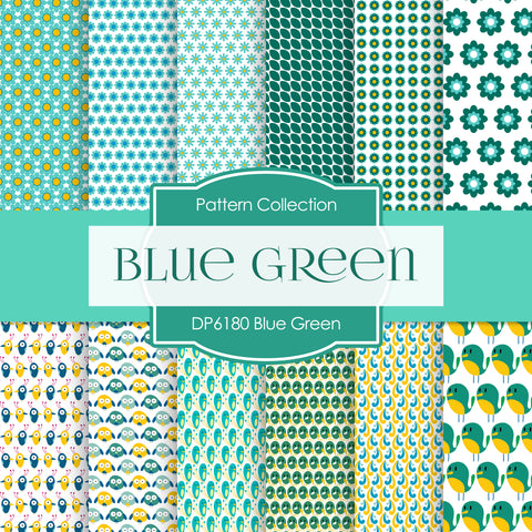 Blue Green Digital Paper DP6180B