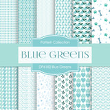 Blue Greens Digital Paper DP6182B