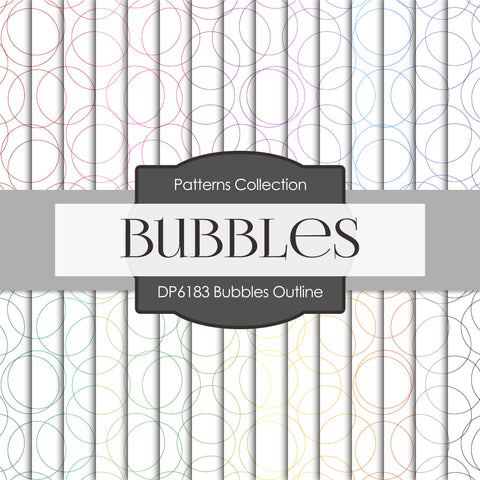 Bubbles Outline Digital Paper DP6183A