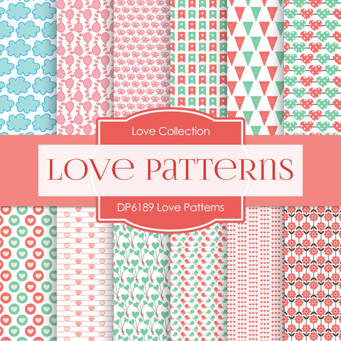 Love Patterns Digital Paper DP6189B