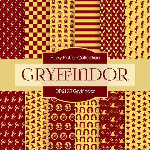 Gryffindor Harry Potter Digital Paper DP6195A