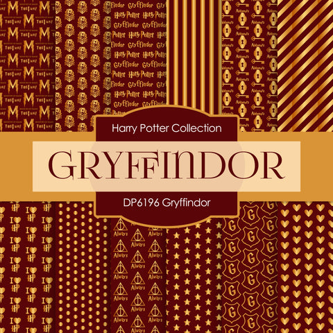 Gryffindor Harry Potter Digital Paper DP6196A