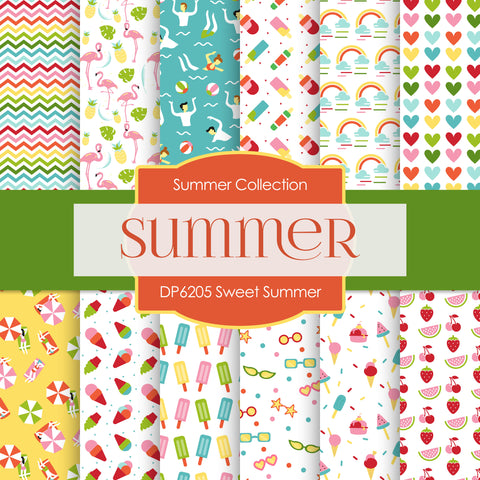 Sweet Summer Digital Paper DP6205D