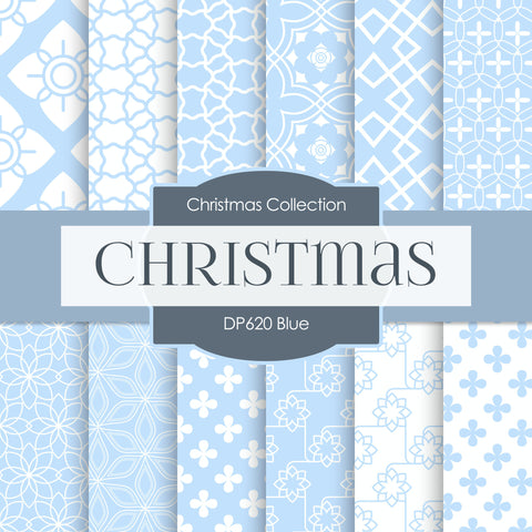 Blue Digital Paper DP620B - Digital Paper Shop - 1