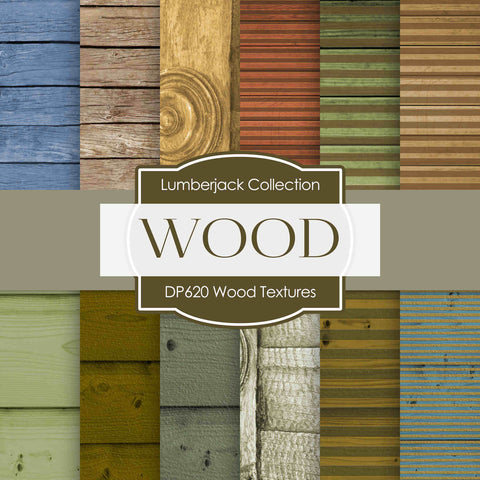 Wood Textures Digital Paper DP620A - Digital Paper Shop - 1