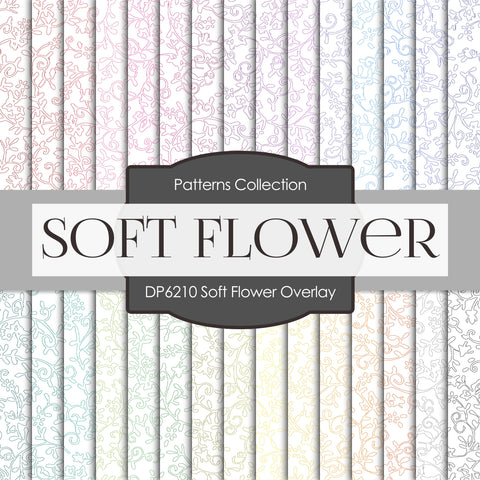 Soft Flower Overlay Digital Paper DP6210A