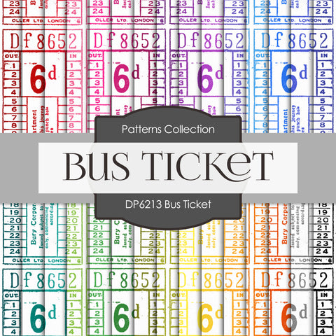 Bus Ticket Digital Paper DP6213A
