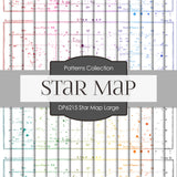 Star Map Large Digital Paper DP6215A