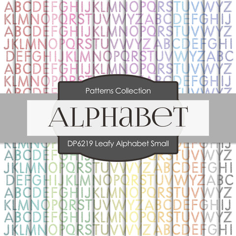 Leafy Alphabet Small Digital Paper DP6219A