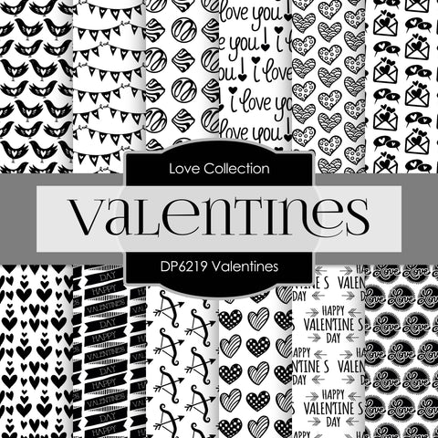 Valentines Digital Paper DP6219B