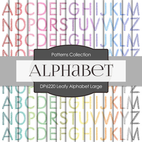 Leafy Alphabet Large Digital Paper DP6220A