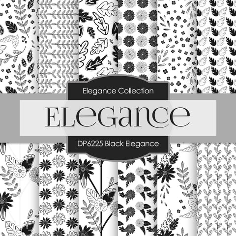 Black Elegance Digital Paper DP6225B