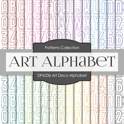 Art Deco Alphabet Digital Paper DP6236A