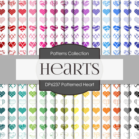 Patterned Heart Digital Paper DP6237A