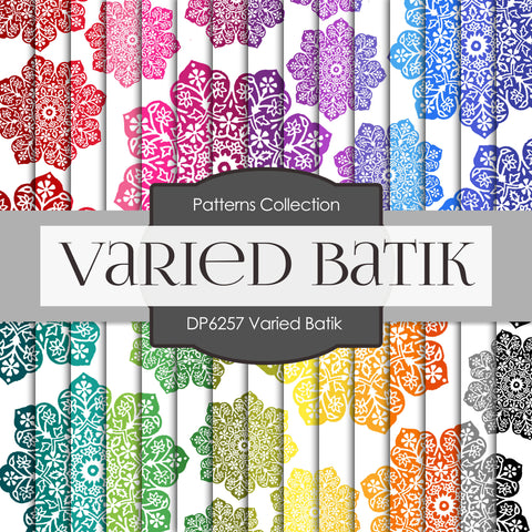 Varied Batik Digital Paper DP6257A