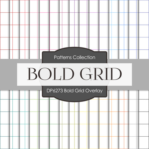 Bold Grid Overlay Digital Paper DP6273A