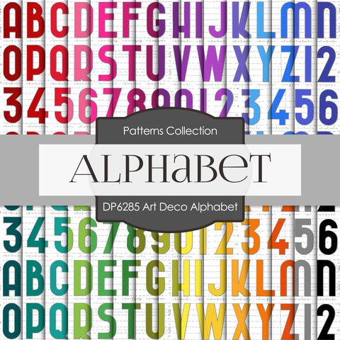 Art Deco Alphabet Digital Paper DP6285A