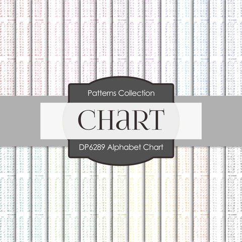 Alphabet Chart Digital Paper DP6289A