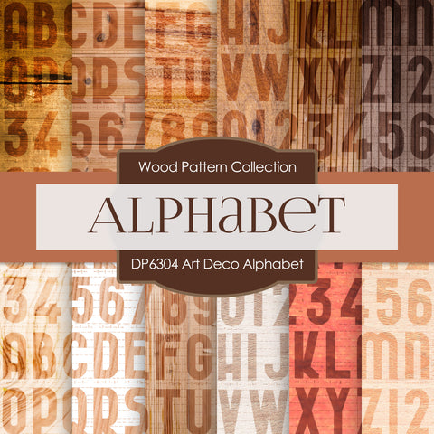Art Deco Alphabet Digital Paper DP6304A