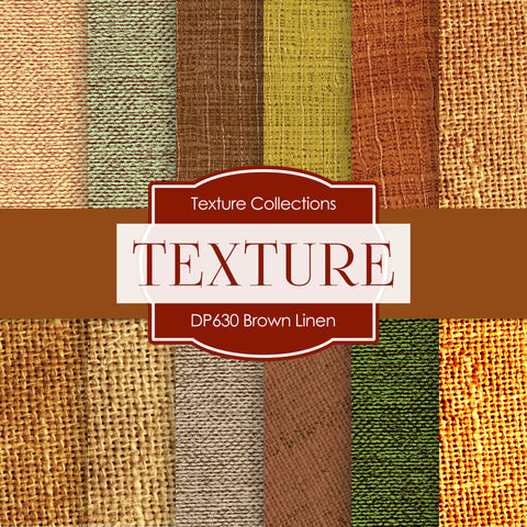 Brown Linen Digital Paper DP630 - Digital Paper Shop - 1