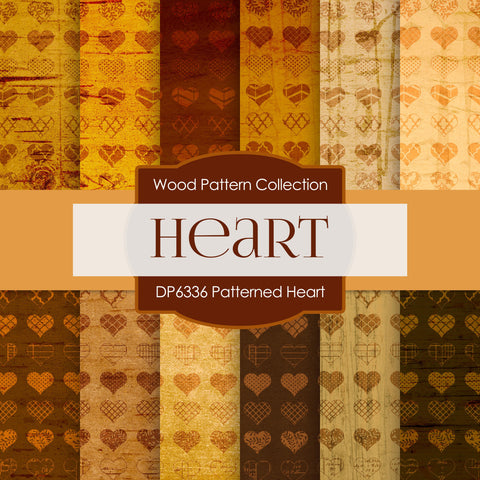 Patterned Heart Digital Paper DP6336A