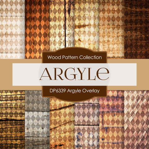 Argyle Overlay Digital Paper DP6339A