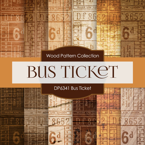 Bus Ticket Digital Paper DP6341A