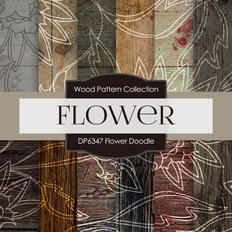 Flower Doodle Digital Paper DP6347A