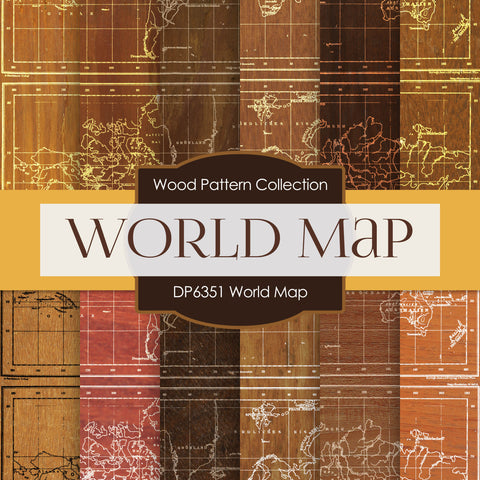 World Map Digital Paper DP6351A