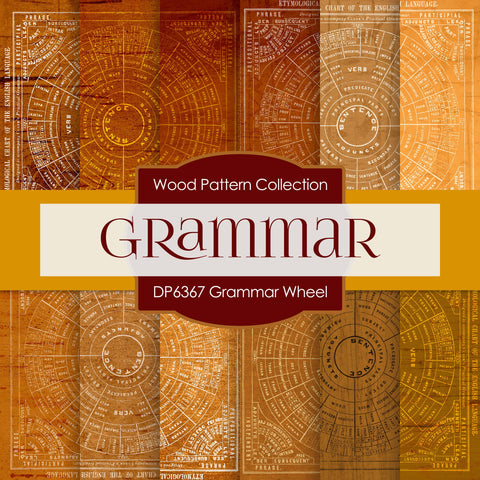 Grammar Wheel Digital Paper DP6367