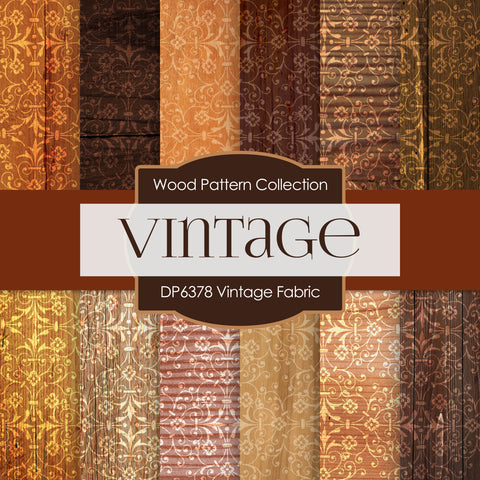 Vintage Fabric Digital Paper DP6378