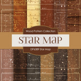 Star Map Digital Paper DP6389
