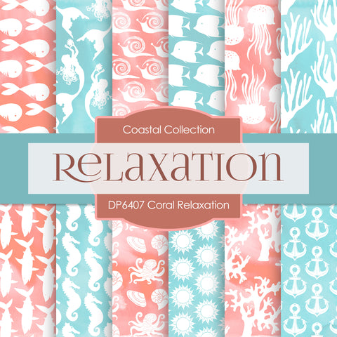 Coral Relaxation Digital Paper DP6407