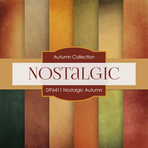 Nostalgic Autumn Digital Paper DP6411