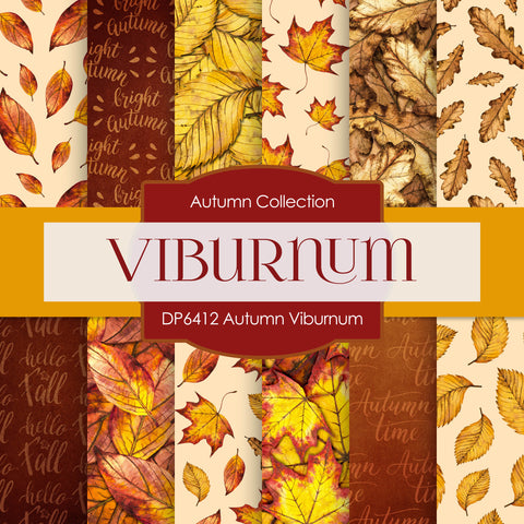 Autumn Viburnum Digital Paper DP6412