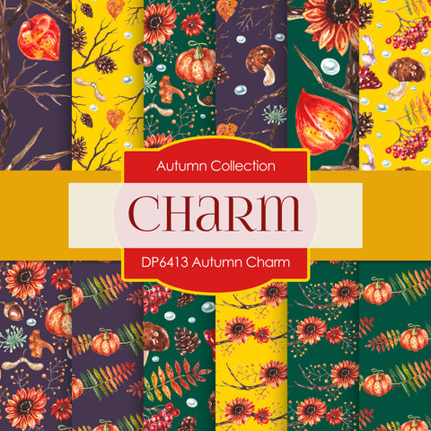 Autumn Charm Digital Paper DP6413