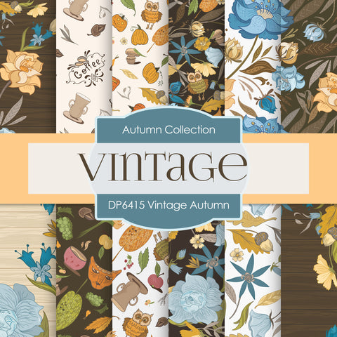 Vintage Autumn Digital Paper DP6415