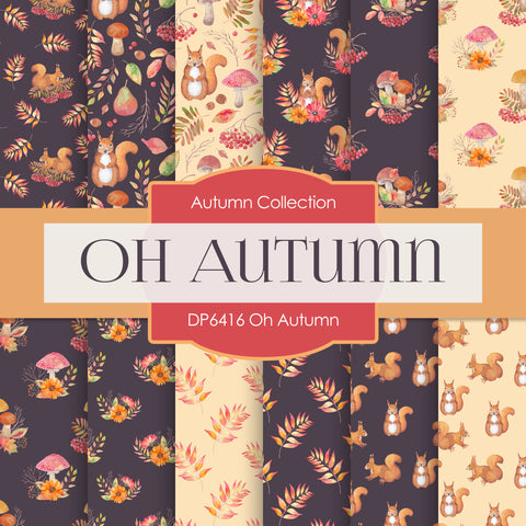 Oh Autumn Digital Paper DP6416