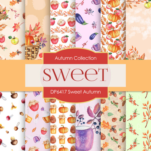 Sweet Autumn Digital Paper DP6417