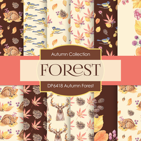Autumn Forest Digital Paper DP6418