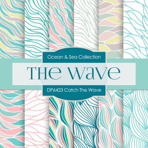 Catch The Wave Digital Paper DP6423