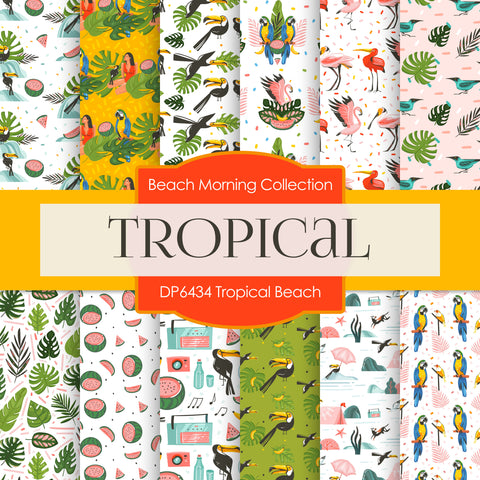 Tropical Beach Digital Paper DP6434
